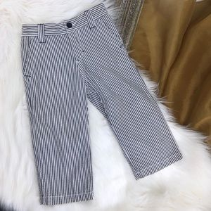 CHEROKEE White and Blue Striped Pants
